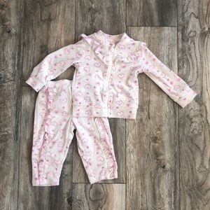 Toddlers matching set with heart design